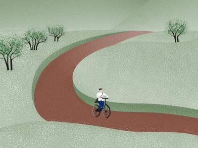 Ha Giang flower field illustration - Đồng hoa Hà Giang