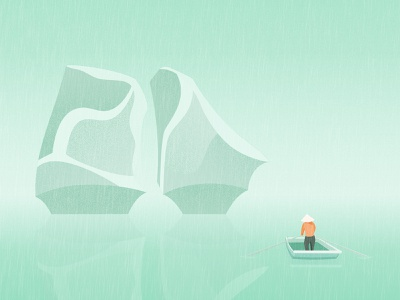 Ha Long Bay - Vịnh Hạ Long landscape illustration minimalist vietnam texture illustration minimalist illustration vietnam illustration vector illustration vietnam designer flat illustration illustration