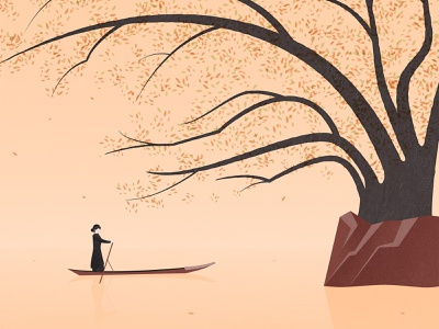 Ba Be lake - Hồ Ba Bể nguyentantai minimalist vietnam landscape illustration minimalist illustration vietnam illustration vietnam designer vector illustration flat illustration illustration