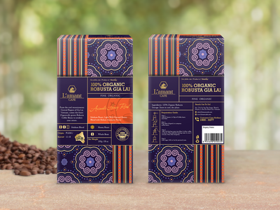 Packaging - L'amant coffee ethnic pattern vietnam designer nguyentantai ethnic vietnam ethnic vietnam packaging vietnam coffee coffee bag coffee packaging pattern packaging designer packaging design packaging