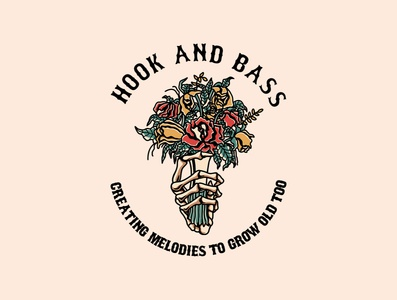 hook and bass traditional tattooinspired apparel apparel design graphicdesign vector clothing brand clothing line tattoo brand badgedesign illustration design artwork