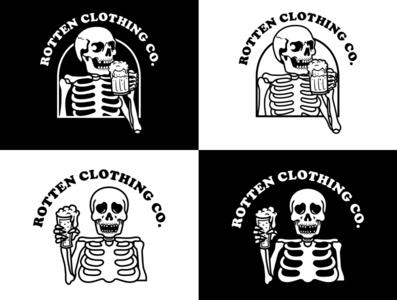 Rotten clothing co.  logo graphicdesign branding logo apparel design branding design brand badgedesign illustration design artwork