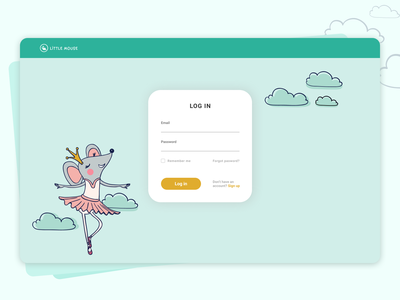 Log in ecommerce dayliui login ui design
