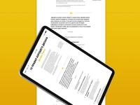 Text layout design