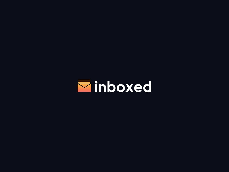 Logo Design - inboxed gradiant modern logo minimalist logo logo design business logo