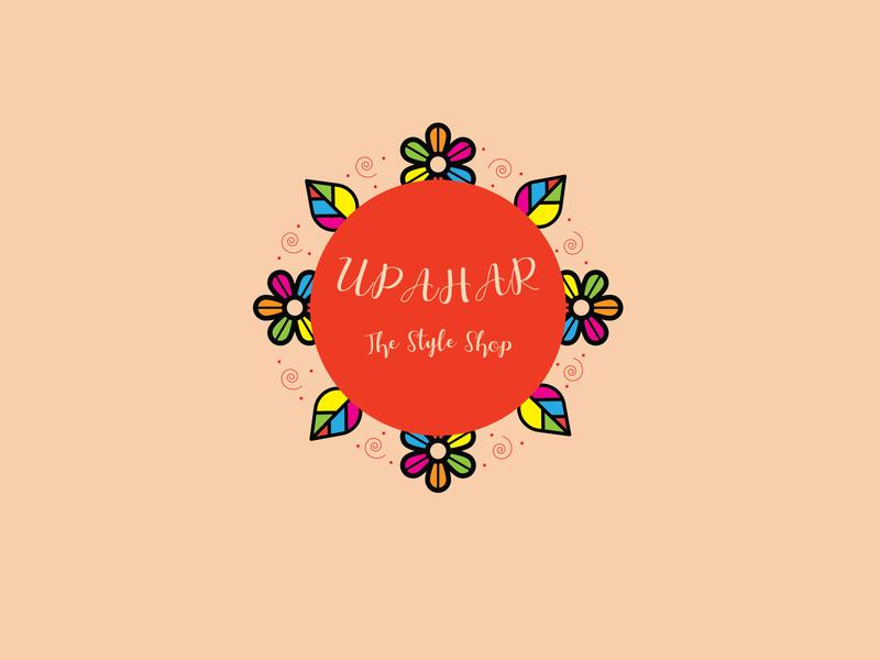 Logo Design - UPAHAR minimalist logo festive logo modern logo colorful logo graphic design logo design logo