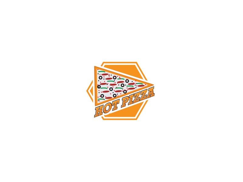 Food Logo - Hot Pizza logodesign graphicdesign minimalist logo modern logo new logo pizza logo food logo