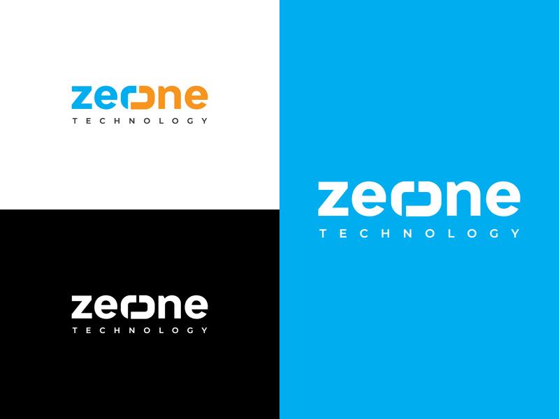 logo design - zerone logo inspiration tech logo logo typography technology logo graphicdesign colorful logo logodesign business logo logo design modern logo minimalist logo