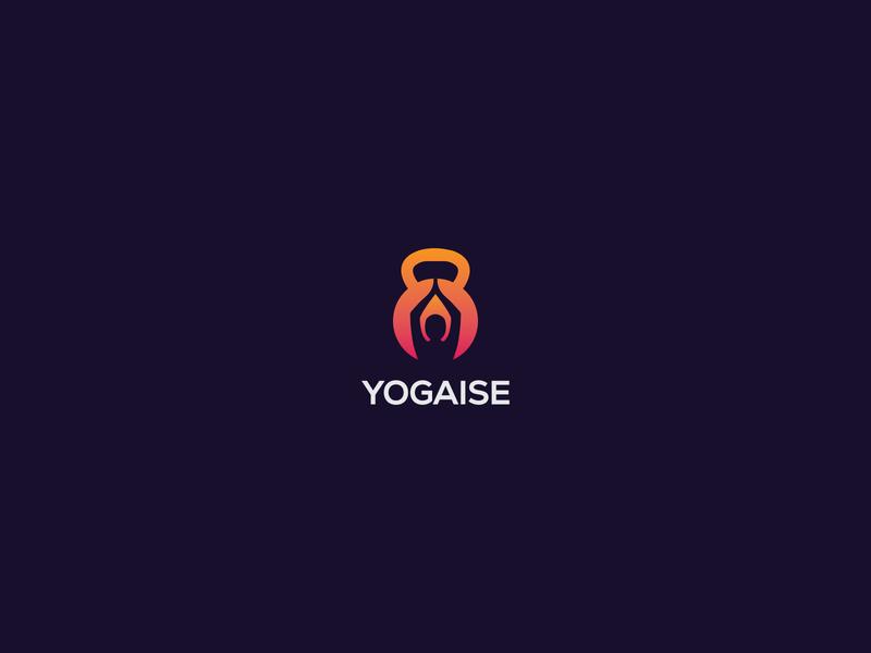 YOGAISE - Logo Design gradiant illustration exercise logo yoga logo fitness logo graphicdesign business logo logodesign colorful logo modern logo logo design minimalist logo