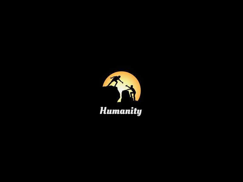 Humanity - illustration graphicdesign modern logo minimalist logo minimal gradient logodesign humanity illustration
