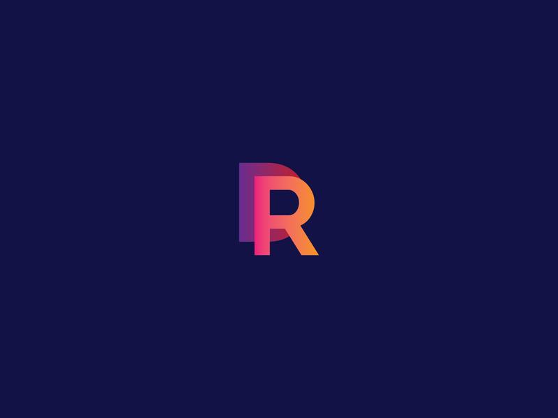 DR letter logo graphicdesign branding logo design logo gradiant colorful logo business logo modern logo logodesign minimalist logo