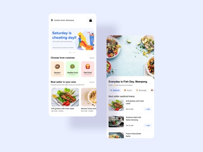 Food Order App 🍔🍩🥗 order delivery app food and drink food app illustration ui design mobile app design app ui  ux