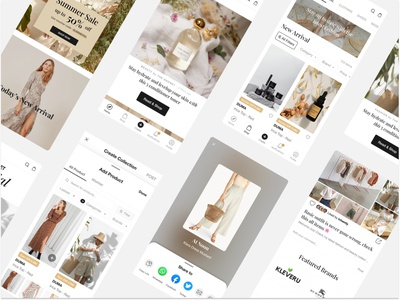 Social Commerce for The Shonet fashion mobile app app ui  ux ui design ecommerce social media design social commerce