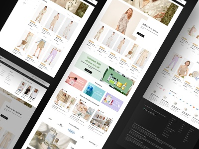 Shop Page for The Shonet ui design fashion branding ui  ux skincare beauty fashion brand ecommerce commerce desktop design shopping app