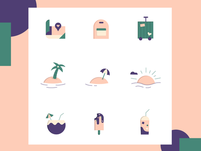 Icon Pack - Travel vector travel app traveling travel illustration icon design icon set icon