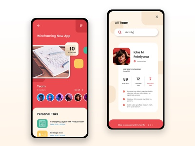 Task Management App vector home ui  ux ui design ui design app team management team task management task