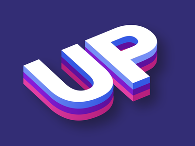 up ui logo design illustration