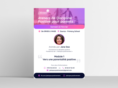 J'éduque Positivement - Flyer Template