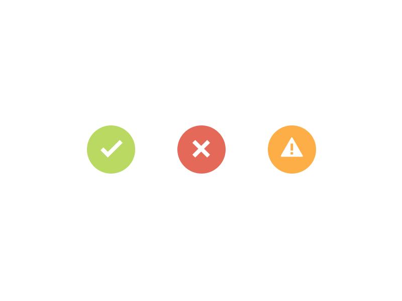 [Freebie] Simple flat buttons buttons freebie free psd alert