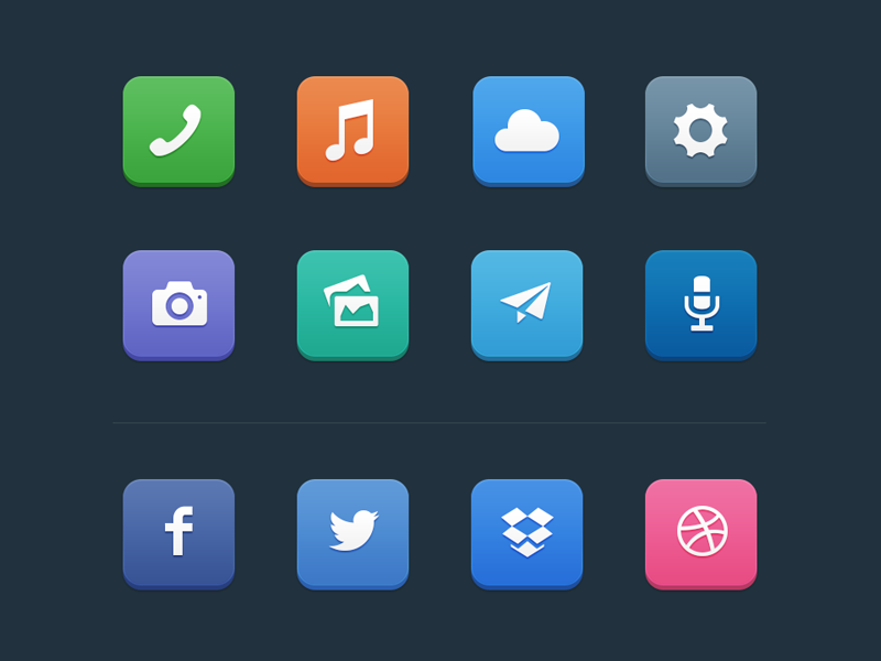 [Freebie] Flat Icons icons flat minimalist free freebie simple colors clean