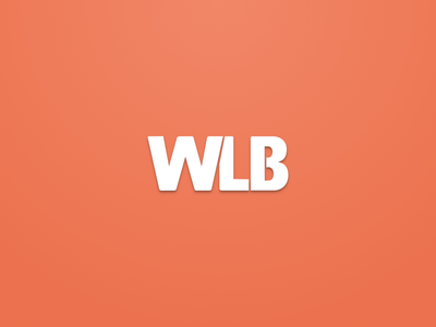 WLB - Welovebuzz morocco flat color clean minimalist simple orange brand identity logo welovebuzz wlb
