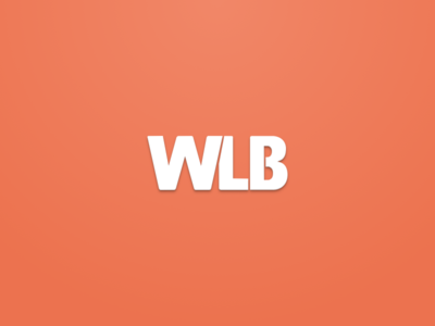 WLB - Welovebuzz morocco flat color clean minimalist simple orange brand identity logo welovebuzz wlb