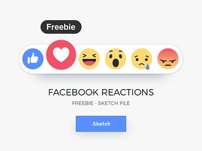 FREEBIE - Facebook Reactions (.sketch) download fun emoji fb psd file sketch reactions facebook use free freebie