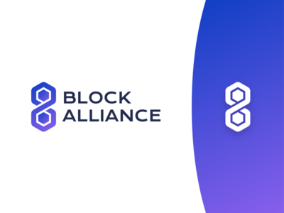BlockAlliance - Logo spectre technology blockchain branding identity gradient purple design logo ba blockalliance