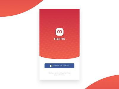 Daily Design — 002 facebook rooms app ios screen connexion login