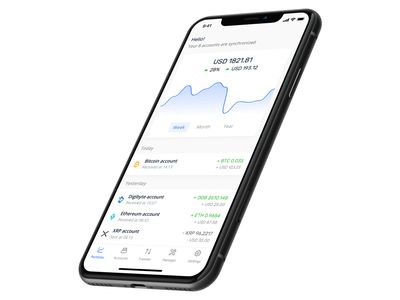 Ledger Live mobile 📱 dashboard crypto app minimalist simple crypto crypto dashboard crypto currency iphone ios mobile app live ledger