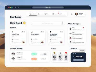 Freelance Dashboard Ui Design vector clean user interface app design uidesign freelance dashboard dashboard ui dashboard design dashboard ui design ui 2d