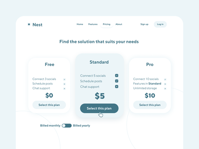 Pricing Page Ui webdesign possimpible website design pricing page uidesign ui design design website pricing ui pricing ui