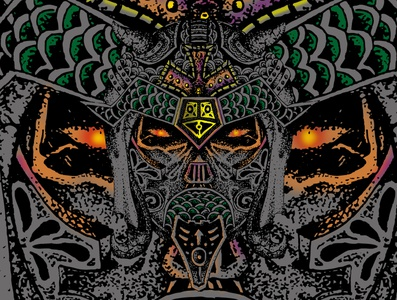 The Creat Devil vektor painting