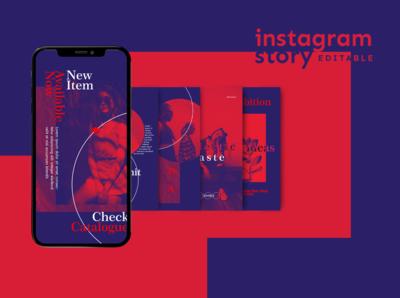Red Velvet Instagram Stories template