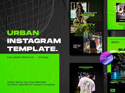 URBAN Instagram Template blogger