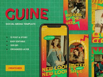 GUINE Social media Template instagram poster