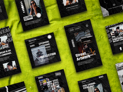 Chromion Hypebeast Instagram Post & Story Template dirty concept textured dope instagram story advertising instagram template social media pack social media hypebeast branding instagram