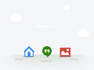Google+ Icons color colorfull google blue yellow gray icons icon web plus gplus gp