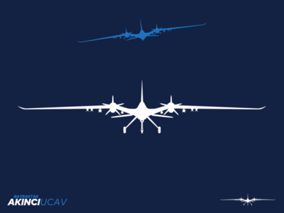 Bayraktar Akıncı UCAV Icon icon symbol unmanned combat air vehicle baykar air unmanned bayraktar akinci akıncı combat ucav uav