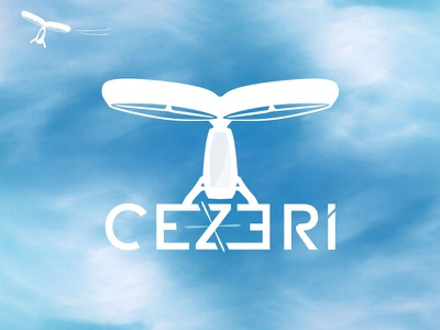 Cezeri Flying Car illustration turkey ecommerce electric uav icon design logo vtol turkish evtol