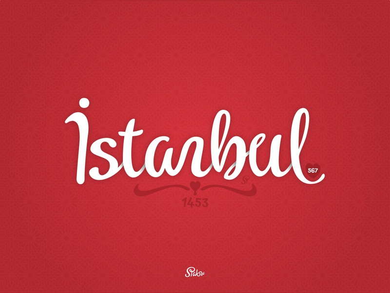 Istanbul typography letter sultan mehmed mehmet mehmed istanbul fatih conqueror conquer 1453