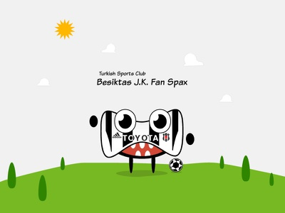 BJK Fan Spax spax monster little guy char character bjk besiktas football soccer