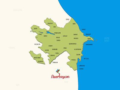 Republic of Azerbaijan Map republic caucasus caspian hazar baku turk turkey turkish maps azerbaycan map