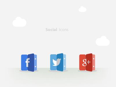 Social Icons (calendar style) calendar social style icons facebook google twitter gplus