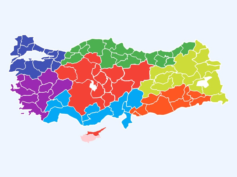 Free) Turkey Layered Vector Map by Safa Paksu on Dribbble
