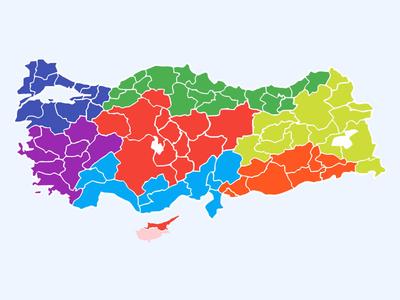 Free Turkey Layered Vector Map by Safa Paksu Dribbble