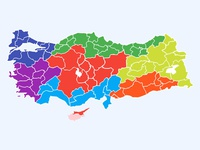 (Free) Turkey Layered Vector Map