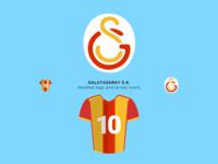 Galatasaray Minimal Logo and Jersey