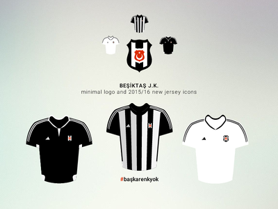 Besiktas JK 2015/16 Jersey #başkarenkyok white black minimal forma logo bjk baskarenkyok jersey besiktas