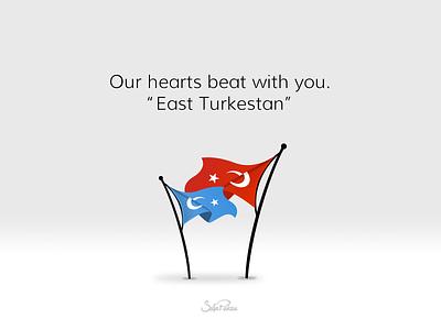 East Turkestan turks china flag turkey doğu türkistan turkestan east